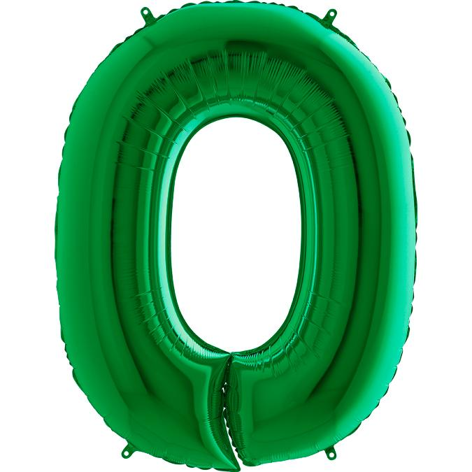 The Original Party Bag Company - Green Giant Number Balloons - greennumber0- The Original Party Bag Company