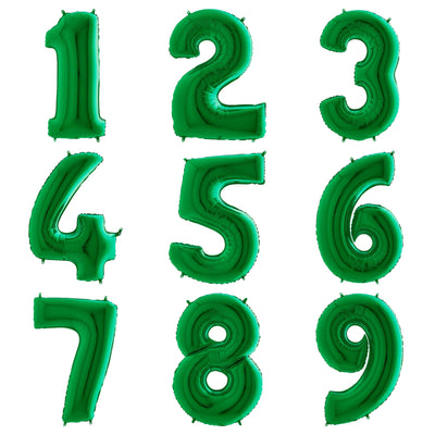 The Original Party Bag Company - Green Giant Number Balloons - - The Original Party Bag Company