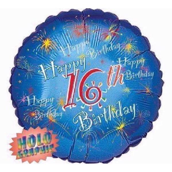 The Original Party Bag Company - Happy 16th Foil Balloon - 028669- The Original Party Bag Company