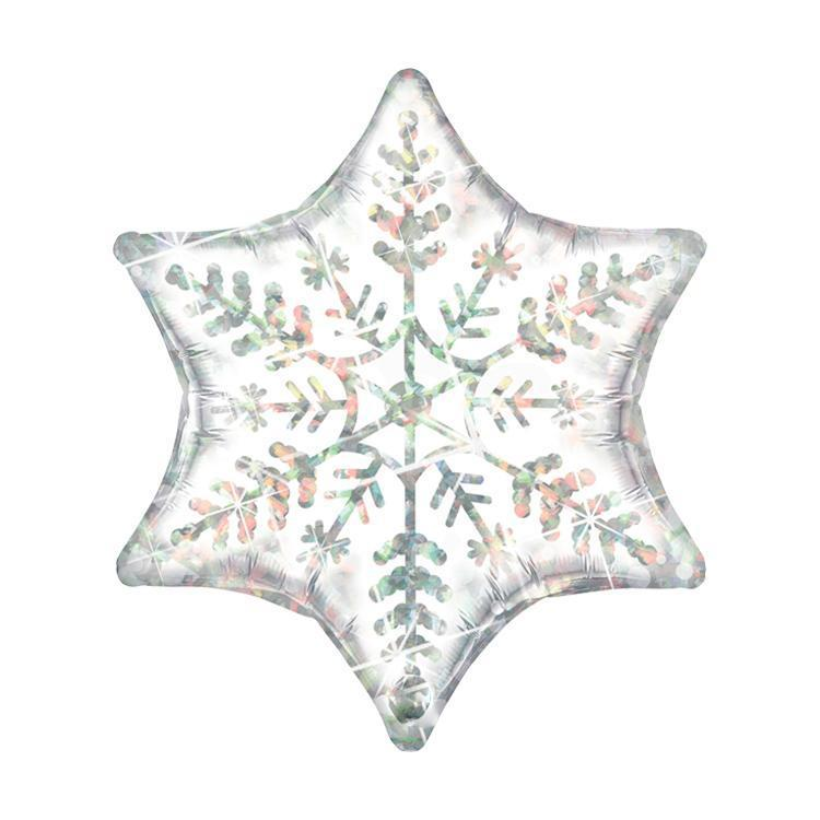 The Original Party Bag Company - Holographic Snowflake Balloon - 20263- The Original Party Bag Company
