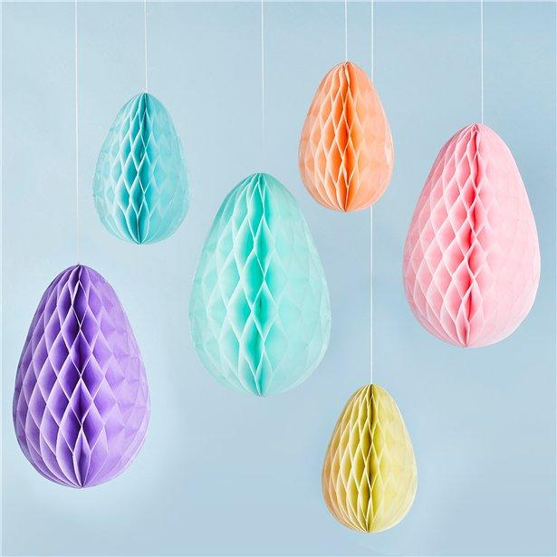 The Original Party Bag Company - Honeycomb Egg Decorations - - The Original Party Bag Company
