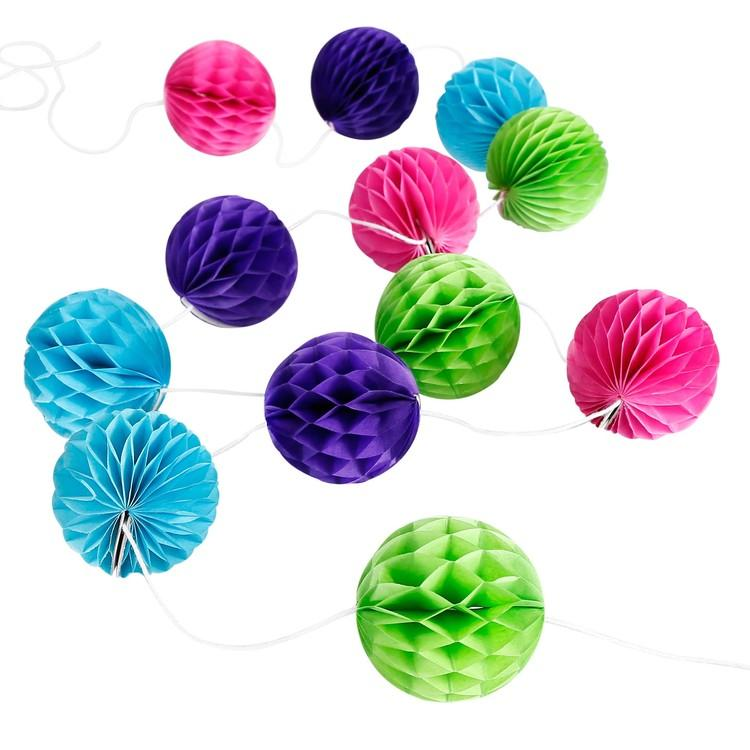 The Original Party Bag Company - Honeycomb Garland (Choose Your Colour) - - The Original Party Bag Company