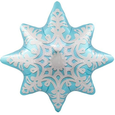 The Original Party Bag Company - Ice Blue Snowflake Balloon - BM00862-01- The Original Party Bag Company