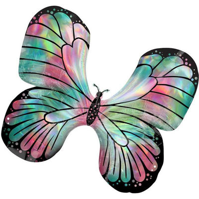 The Original Party Bag Company - Iridescent Butterfly Balloon - 992680- The Original Party Bag Company