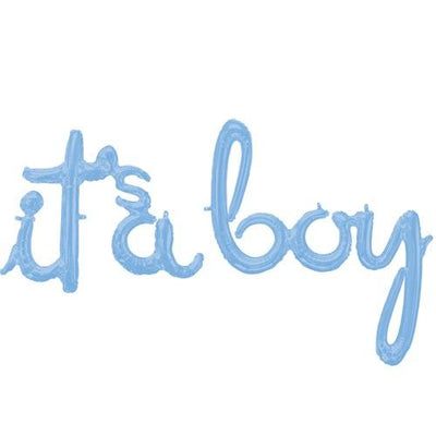 The Original Party Bag Company - Its a Boy Phrase Balloon - 106432- The Original Party Bag Company