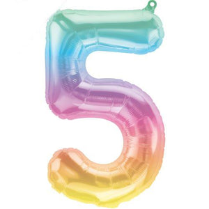 The Original Party Bag Company - Jelly Pastel Ombre Number Balloon - ombreballoon- The Original Party Bag Company