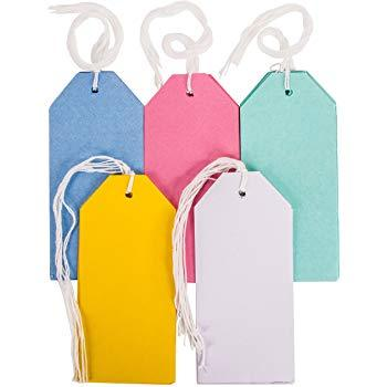 The Original Party Bag Company - Large Multicolour Gift Tags (Pk30) - 190826- The Original Party Bag Company