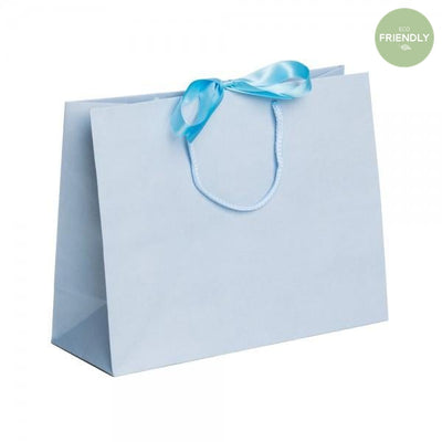 The Original Party Bag Company - Luxury Blue Medium Gift Bag with Ribbon - RPLBR32- The Original Party Bag Company
