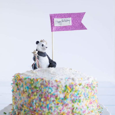 The Original Party Bag Company - Luxury Cake Flag Topper - topflagpnk- The Original Party Bag Company