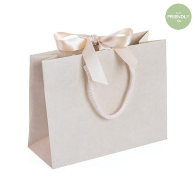 The Original Party Bag Company - Luxury Cream Gift Bag with Ribbon - rpvr20- The Original Party Bag Company