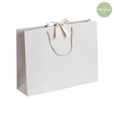 The Original Party Bag Company - Luxury Cream Large Gift Bag with Ribbon - rpvr42- The Original Party Bag Company