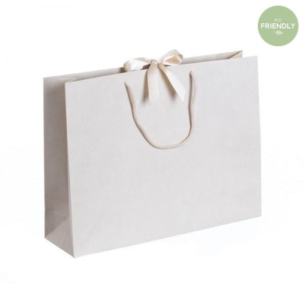 The Original Party Bag Company - Luxury Cream Medium Gift Bag with Ribbon - RPVR32- The Original Party Bag Company