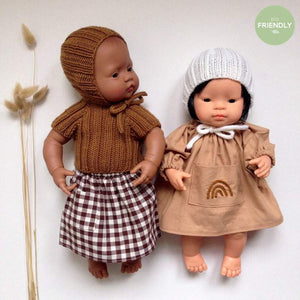 The Original Party Bag Company - Luxury Dolls Bonnet and Sweater - bonnetsetbronze- The Original Party Bag Company
