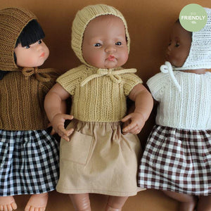 The Original Party Bag Company - Luxury Dolls Bonnet and Sweater - bonnetsetcamel- The Original Party Bag Company