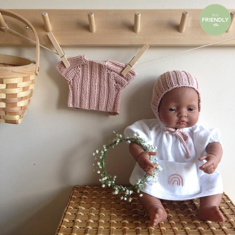 The Original Party Bag Company - Luxury Dolls Bonnet and Sweater - bonnetsetppink- The Original Party Bag Company