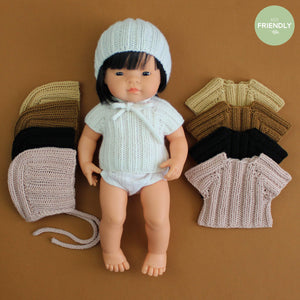The Original Party Bag Company - Luxury Dolls Bonnet and Sweater - bonnetsetwhite- The Original Party Bag Company