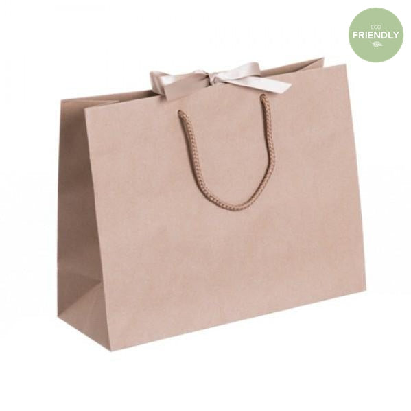 The Original Party Bag Company - Luxury Kraft Medium Gift Bag with Ribbon - RPKLR32- The Original Party Bag Company
