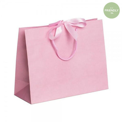 The Original Party Bag Company - Luxury Pink Medium Gift Bag with Ribbon - RPPR32- The Original Party Bag Company