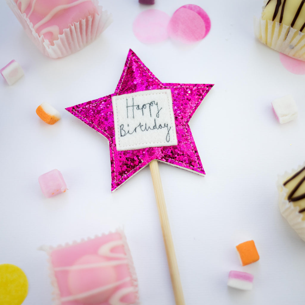 The Original Party Bag Company - Luxury Star Birthday Cake Topper - - The Original Party Bag Company
