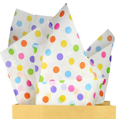 The Original Party Bag Company - Luxury Tissue Paper (Choose Your Design) - TissRainbowPolka- The Original Party Bag Company