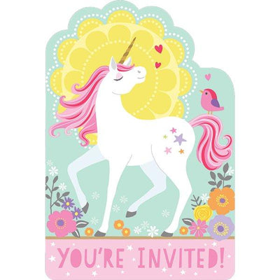 The Original Party Bag Company - Magical Unicorn Invitations (Pk8) - maguniinv- The Original Party Bag Company
