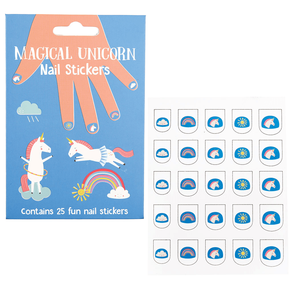 The Original Party Bag Company - Magical Unicorn Nail Stickers (Pk25) - 28337- The Original Party Bag Company