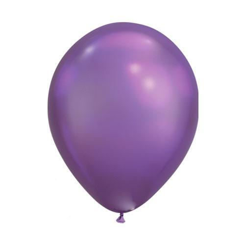 "The Original Party Bag Company - Mini Chrome Purple Balloons 7"" (Pk5) - 85155- The Original Party Bag Company"
