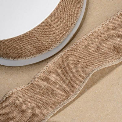 The Original Party Bag Company - Natural Hessian Ribbon (10m) - ribb180d- The Original Party Bag Company