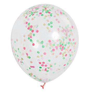 The Original Party Bag Company - Neon Confetti Balloons (Pk6) - tf54480- The Original Party Bag Company