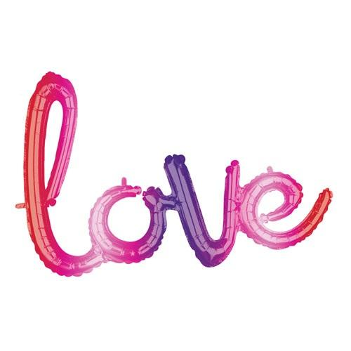 The Original Party Bag Company - Ombre Love Script Balloon - 3876401- The Original Party Bag Company