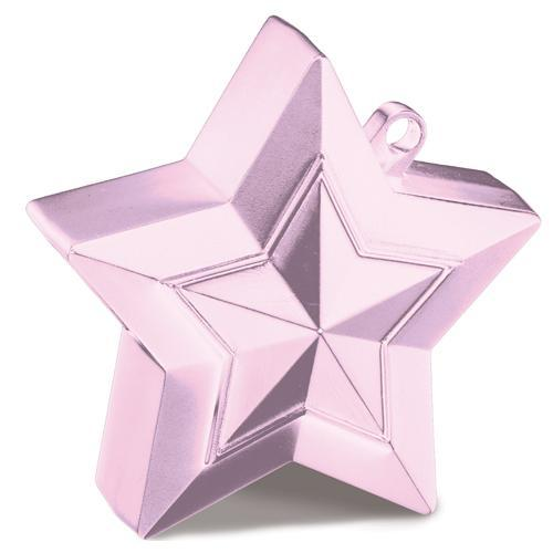 The Original Party Bag Company - Pale Pink Star Balloon Weight - 38799- The Original Party Bag Company