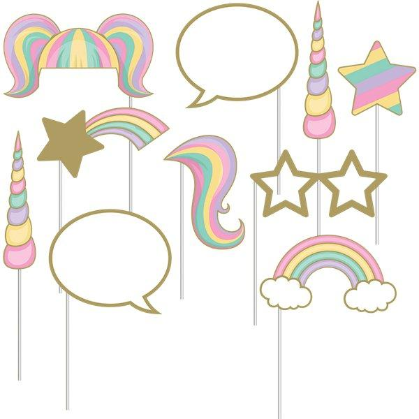 The Original Party Bag Company - Pastel Unicorn Photo Props - uspaprop- The Original Party Bag Company