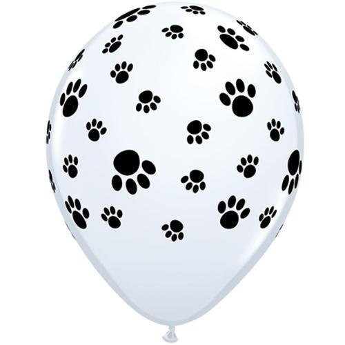 The Original Party Bag Company - Paw Print Balloons (Pk12) - tf04153- The Original Party Bag Company