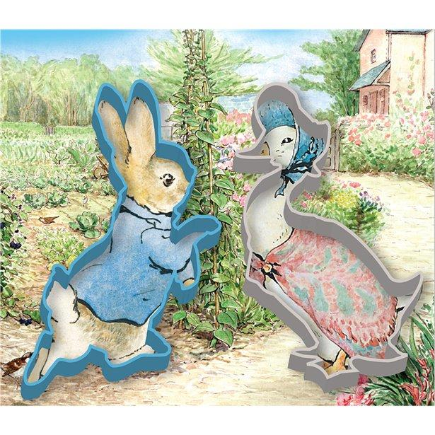 The Original Party Bag Company - Peter Rabbit Cookie Cutter Set (Pk2) - petrcook- The Original Party Bag Company