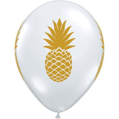 The Original Party Bag Company - Pineapple Print Balloons (Pk5) - tf57552- The Original Party Bag Company