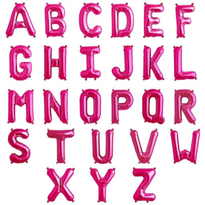 The Original Party Bag Company - Pink Air Fill Letter Balloons - pifoillet-01- The Original Party Bag Company