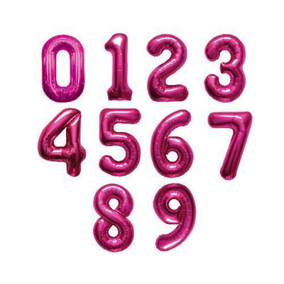 The Original Party Bag Company - Pink Air Fill Number Balloons - - The Original Party Bag Company