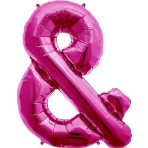 The Original Party Bag Company - Pink Ampersand Balloon - 00944-01N- The Original Party Bag Company