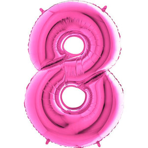 The Original Party Bag Company - Pink Giant Number Balloons - giantnumberpink-09- The Original Party Bag Company
