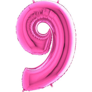 The Original Party Bag Company - Pink Giant Number Balloons - giantnumberpink-10- The Original Party Bag Company