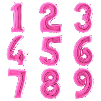 The Original Party Bag Company - Pink Giant Number Balloons - - The Original Party Bag Company