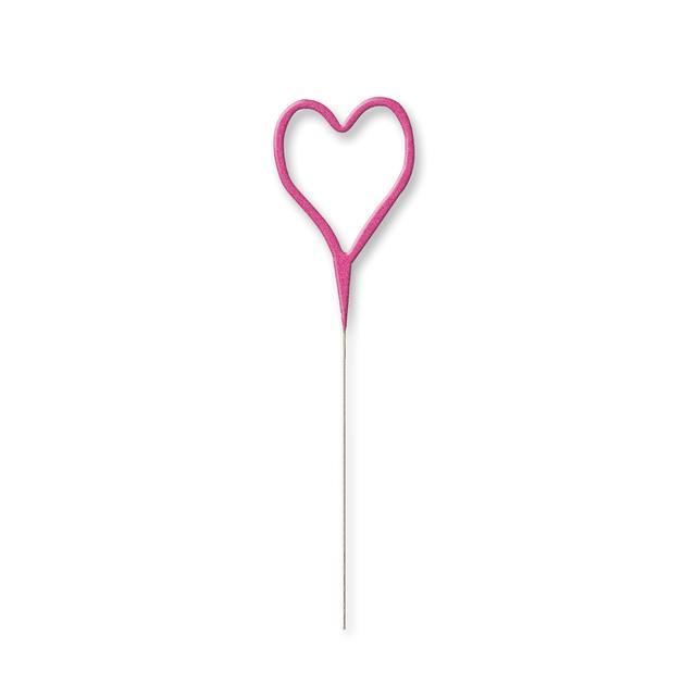 The Original Party Bag Company - Pink Heart Sparkler - PIHESPARK- The Original Party Bag Company