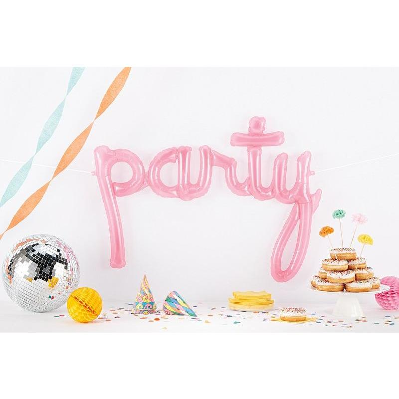 The Original Party Bag Company - Pink Party Script Balloon - pinkpartyscript- The Original Party Bag Company