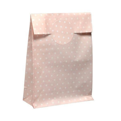 The Original Party Bag Company - Pink Pastel Polka Treat Bags (Pk10) - mav84pk- The Original Party Bag Company