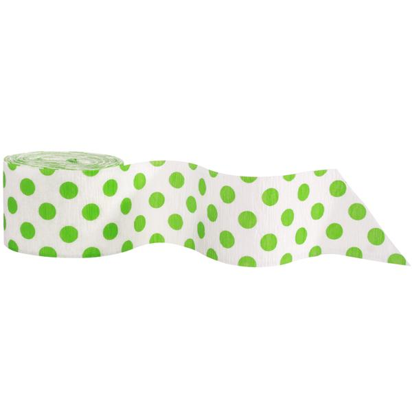 The Original Party Bag Company - Polkadot Green Streamer - 63121UN- The Original Party Bag Company