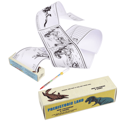 The Original Party Bag Company - Prehistoric Land Mini Colouring And Games - 28538- The Original Party Bag Company