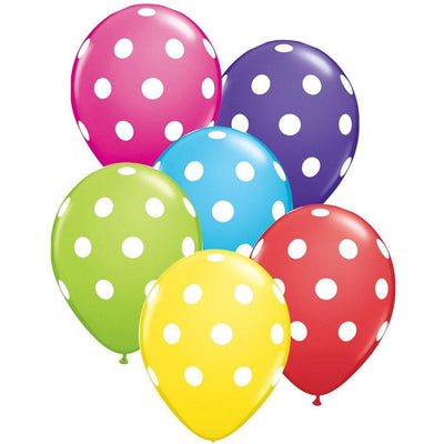 The Original Party Bag Company - Rainbow Dot Balloons (Pk12) - tf11485- The Original Party Bag Company