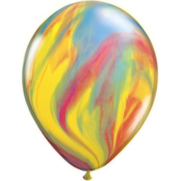The Original Party Bag Company - Rainbow Marble Balloons (Pk5) - 39922tf- The Original Party Bag Company