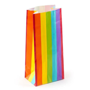 The Original Party Bag Company - Rainbow Paper Treat Bags (Pk12) - OPBAGS204- The Original Party Bag Company