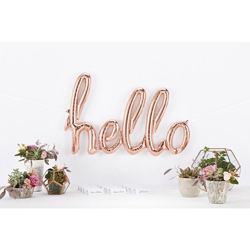 The Original Party Bag Company - Rose Gold HELLO Script Balloon - hellorg- The Original Party Bag Company